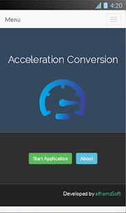 Acceleration Conversion Screenshot 2
