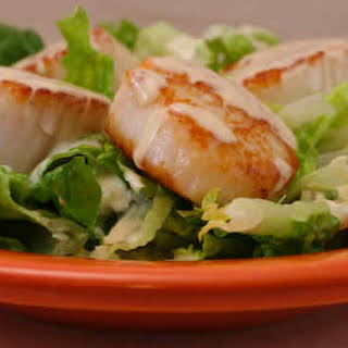 Warm Scallop Caesar Salad.