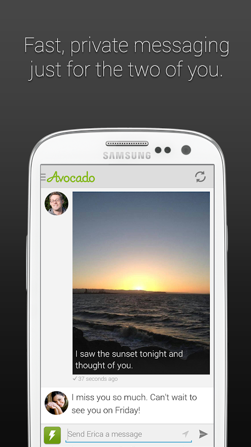 Avocado - Chat for Couples - screenshot