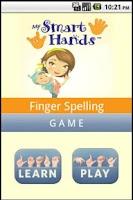 Screenshot of ASL spelling game
