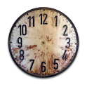 Old Wood Clock Widget