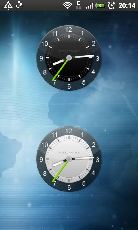 Clock Widget Pack Sense UI - screenshot