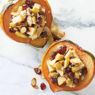 Apple-Cranberry-Stuffed Acorn Squash.