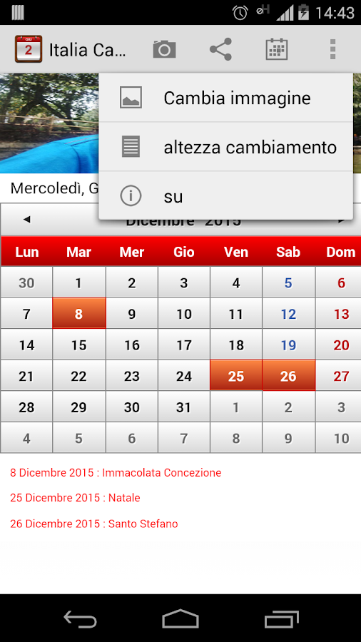 Italia Calendario 2015 - screenshot