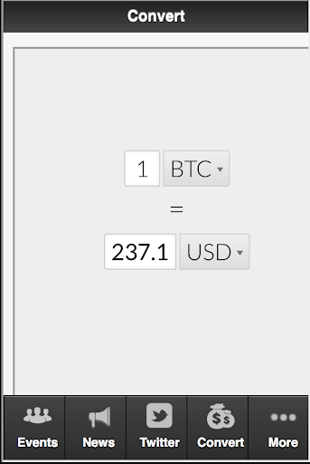 Bitcoin to USD