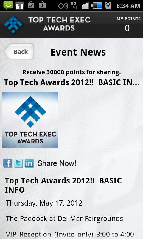 Top Tech Awards - screenshot