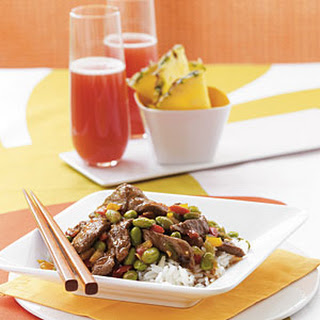 Edamame and Steak Stir-Fry.
