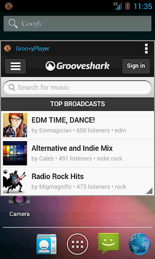 Music Player for Groove Shark