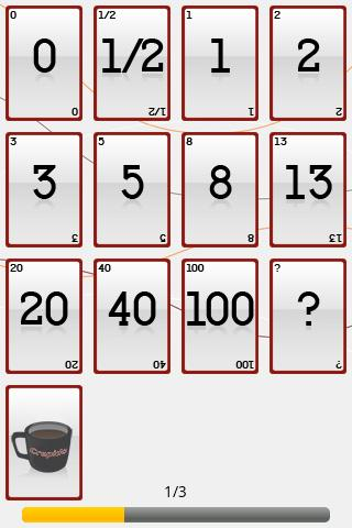 Online Planning Poker - screenshot