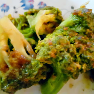 Broccoli with Asian Garlic Sauce.