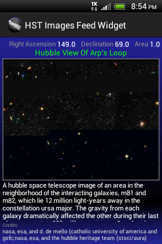 HST Images Feed Widget