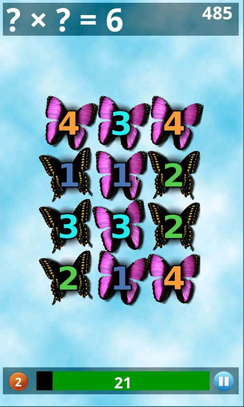 Butterfly Math Lite - screenshot