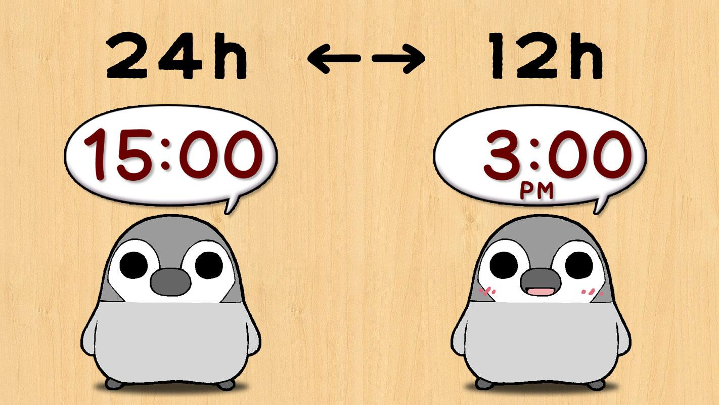 Pesoguin Clock Widget -Penguin- screenshot