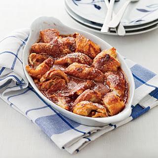 Caramel-Croissant Pudding