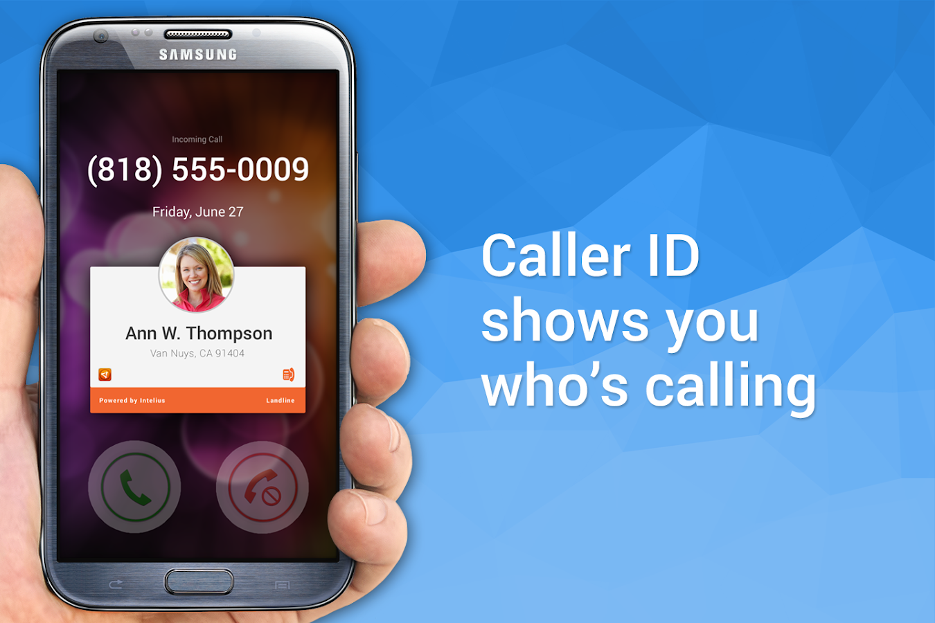 Intelius People Search/Call ID- screenshot
