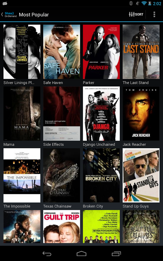 Shaw On Demand Search - screenshot