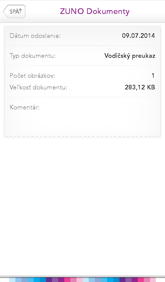 ZUNO Dokumenty- screenshot