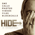 Hide Text,Call,Foto,File,Video logo