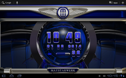 Digi Clock Widget Blue Saphir APK screenshot thumbnail 6