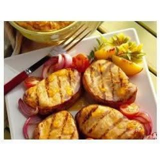 Peachy Mustard Pork Chops