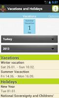 Screenshot of Holiday & Vacation Countdown