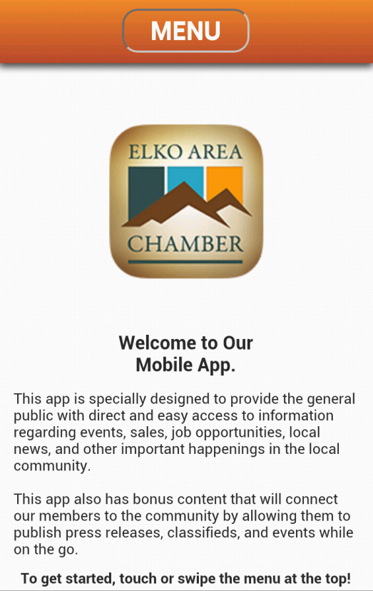 Elko Area Chamber of Commerce- screenshot