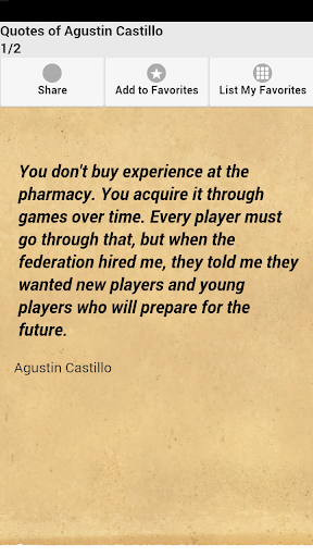 Quotes of Agustin Castillo