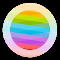 Blurred Circled Icons Light HD