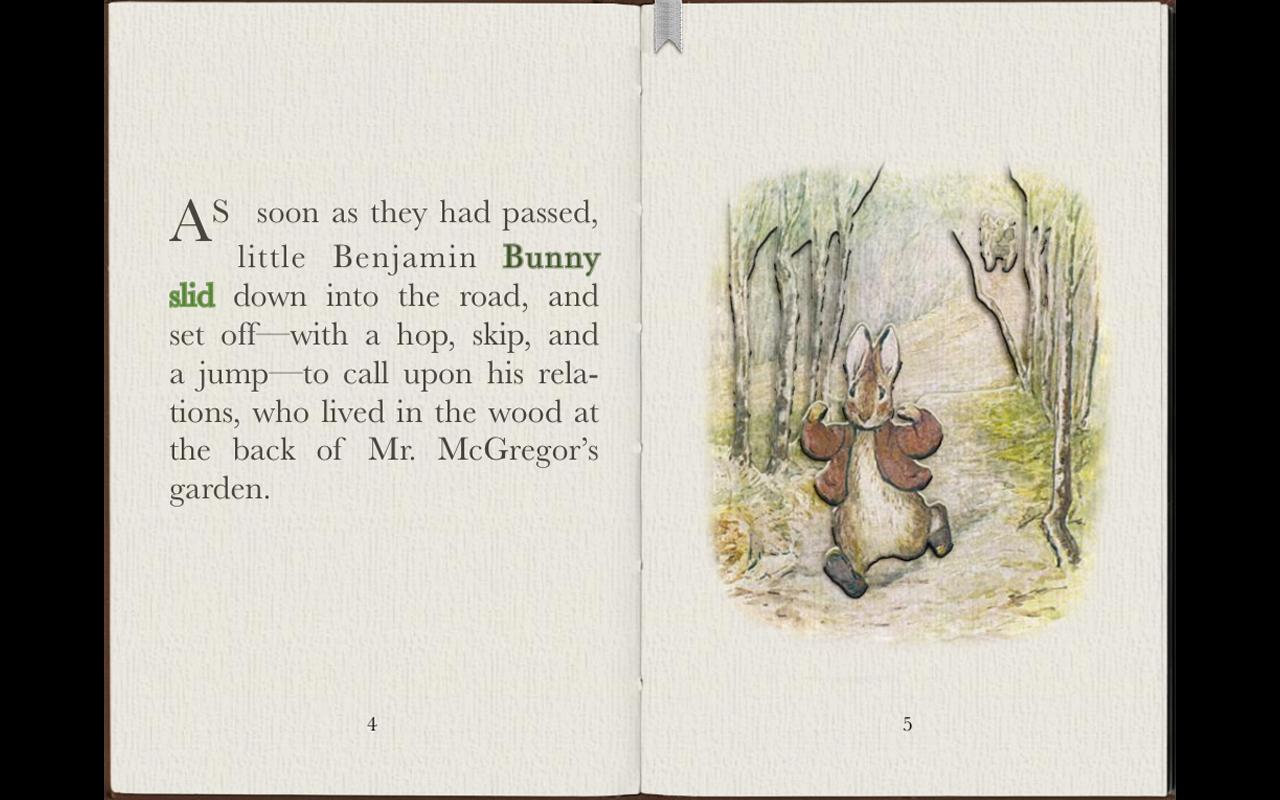 PopOut! Tale of Benjamin Bunny- screenshot
