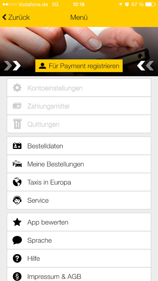 Taxi Berlin (030) 202020- screenshot
