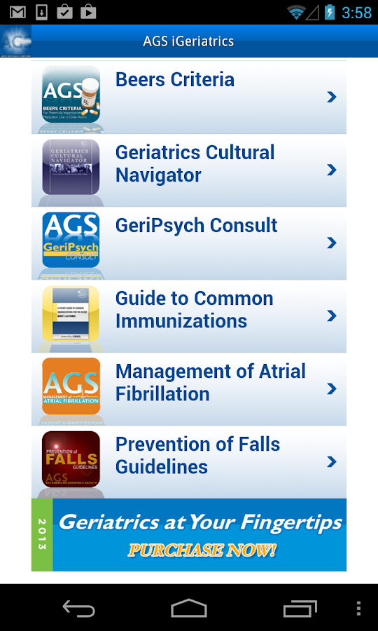 iGeriatrics - screenshot