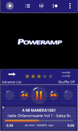 Poweramp Skin Blue Minimal