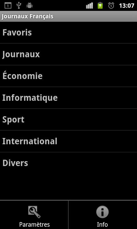 Journaux Français - screenshot