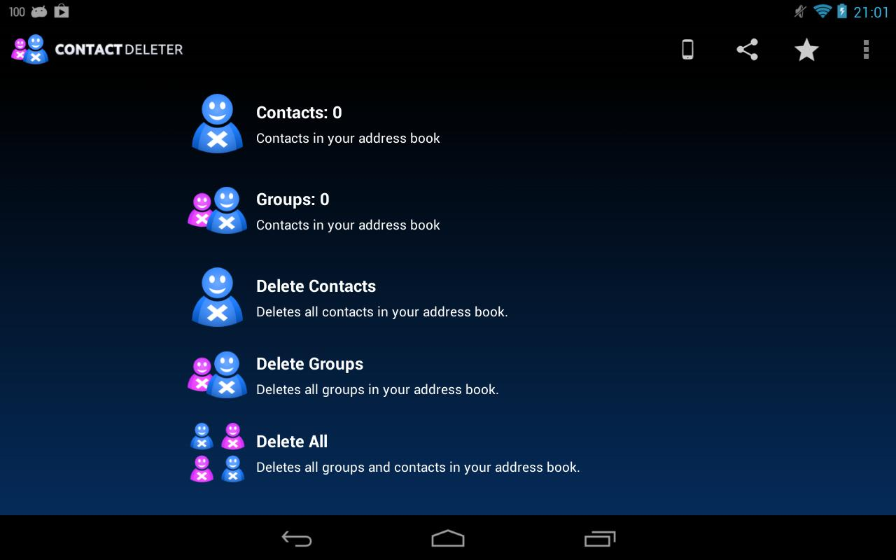 Delete Contacts- screenshot