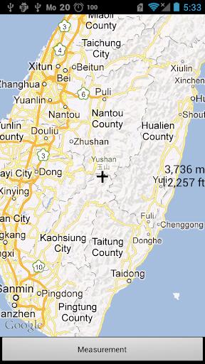 地図指定海抜m Ft標高計