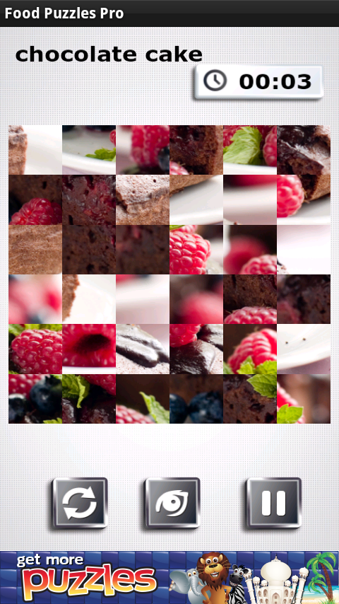 Food Puzzles - Free and Yummy - screenshot