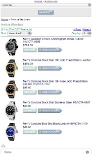 Invicta Brand Watches - screenshot thumbnail