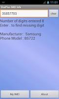 Screenshot of ShaPlus IMEI Info
