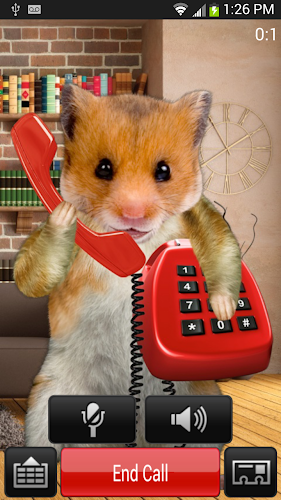 Hamster anime phone call