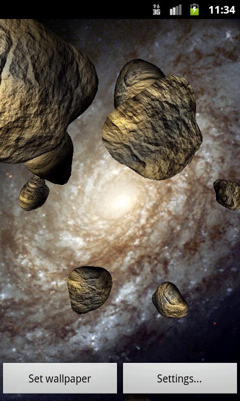 Asteroids Live Wallpaper - screenshot