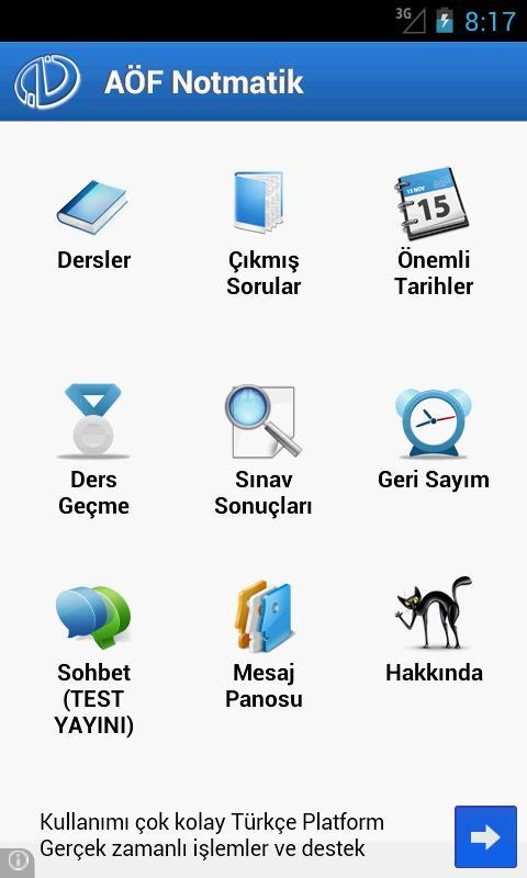 Aöf Notmatik - Açıköğretim - screenshot
