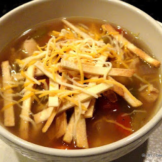 Freezer Burnt Chicken Tortilla Soup