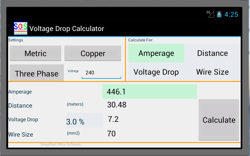 Wire size calculator for voltage drop gallery wiring table and wire size calculator android images wiring table and diagram wire size calculator android image collections wiring greentooth Image collections