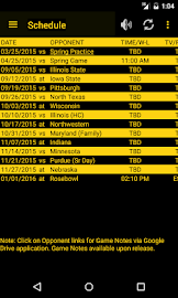 Hawkeye Football Schedule Screenshot 1