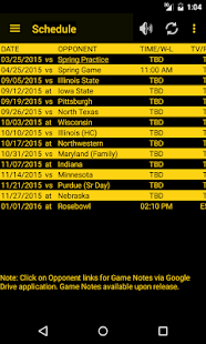 Hawkeye Football Schedule Screenshot 1