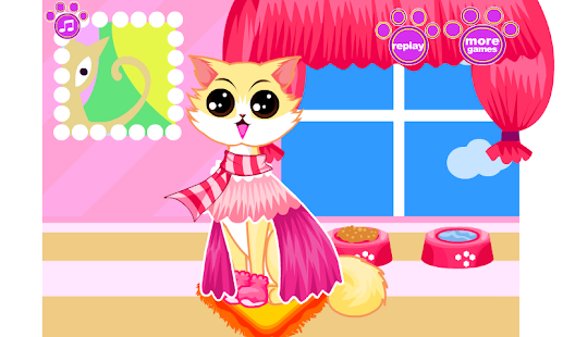 【免費休閒App】Cute Kitty Cat Dress Up-APP點子