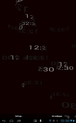 【免費個人化App】5D Digital Clock HD Wallpaper-APP點子
