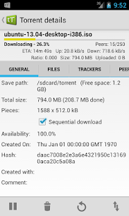 tTorrent Lite - Torrent Client - screenshot thumbnail