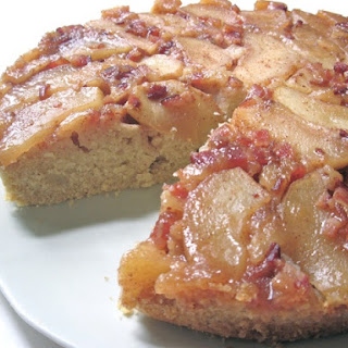 Apple & Candied Bacon Upside Down Cake.