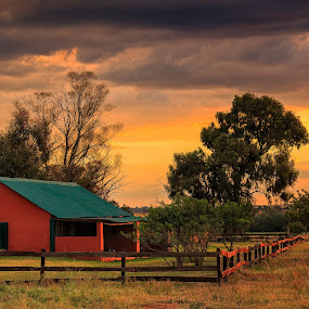 Lilac and Loerie by Hans-Erik Arp - Buildings & Architecture Other Exteriors ( ranch, ranching, sky, african, magaliesberg, cottage, sunset, south africa, magaliesburg, summer, game lodge, sun )